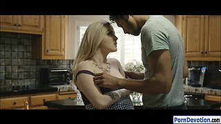 Pregnant woman Karla Kush morning fuck with her hubby