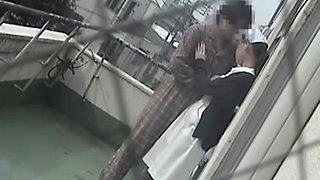 Cute nurse banged hard in voyeur Japanese sex video