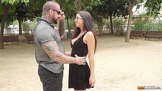Gorgeous Julia de Lucia has a blast fucking a tattooed man
