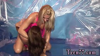 Teen playfellows have sex Hot gal wrestling