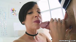 jada stevens gave him an incredibly aggressive blowjob