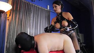 Mistress fucking her slave boy like the slave he is