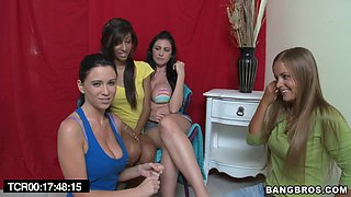 Threesome with lesbian hotties!