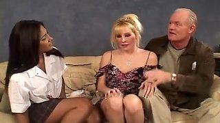Long Legged Brazilian in Old Threesome