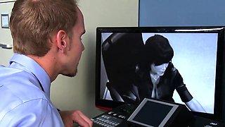 Femdom ffm officesex with Lisa Ann and Ava Addams