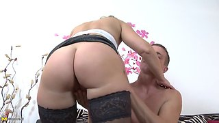 Taboo home story with stepmom and young son