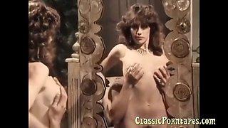 Sexy lady fucks hard in retro porn