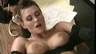 Magnificent and curvy vintage white girl boned in the office