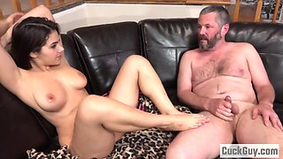 Valentina Nappi humiliating her cuckold husband