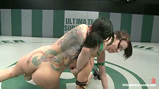 Tori Lux gets her ass kicked by smaller girl!Made to submit to the tinier more aggressive girl!