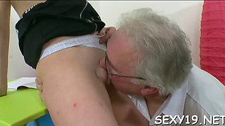 delighting an old teacher amateur clip 5