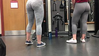 Two beautiful in the gym  2