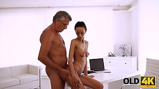 OLD4K. Finally she's got her boss dick