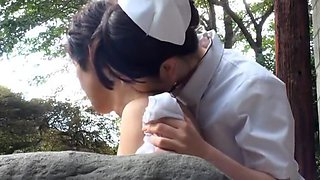 Hottest Japanese girl Mai Tsuruta in Amazing Nurse, Outdoor JAV movie