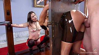 Kinky master punish Sadie Santana and one nasty chick