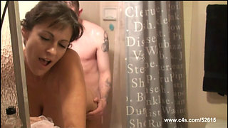 Mommy fucks her Son in the Shower