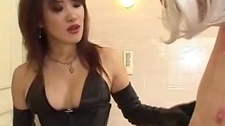 Asian  Mistress  Whipping  Slave