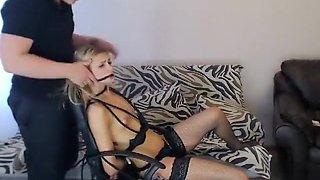 Blowjob in Bondage