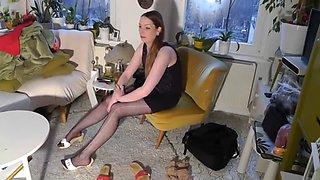 german pantyhose lady