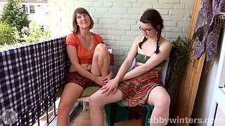 Two lesbians finger each other till they orgasm