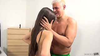 Ardent Lucy Doll exposes bum and gets poked doggy style