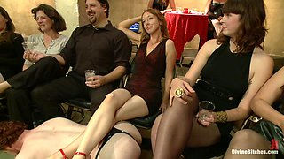 Maitresse Madeline Marlowe & Aiden Starr & Christian Wilde & Lorelei Lee in Live & Public Slave Humiliation, Degradation, Prostate Milking With Horny Sadistic Women - DivineBitches