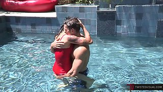 Dana Vespoli and Johnny Castle MILF by the Pool Fucking