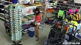 shoplifters pussy fucked like a spread eagle
