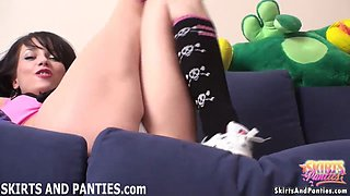 Are you trying to peek up my cheerleading skirt?