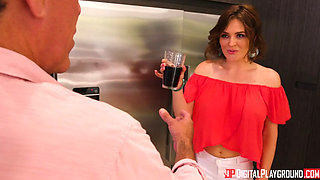 Jill Kassidy And Krissy Lynn Are Secret Sex On A Kitchen