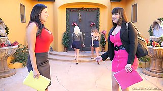 The shopping ends up as steamy lesbian intercourse with Darcie Dolce