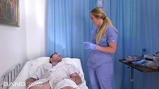 A home nurse that gets totally into fucking her patient