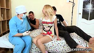 Doctor looks hymen examination and virgin chick reaming53eeJ