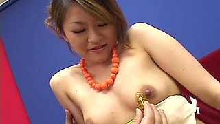 Sexy Asian babe Love toy insertion