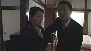 Asian Japanese MILF pays off her husband's debts