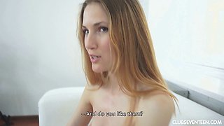 Cutie called Eva is ready to lose her virginity before the cameras