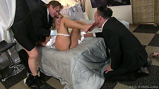 Nasty blonde bride Aaliyah Love cheats on her husband with a best man
