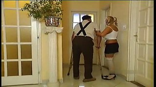 Blowjob from Norwegian big tits blonde