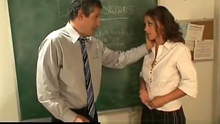 Penny Flame hot school girl having good sex after class teacher