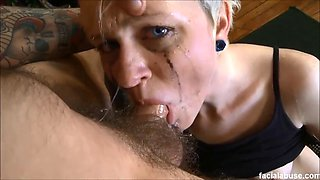 Krys foxy gets her 18 year old emo throat & ass fucked hard