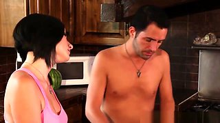 Erotic Babe Cockriding In Kitchen After Bj