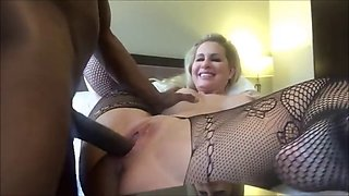 racist mature slut takes bbc creampie