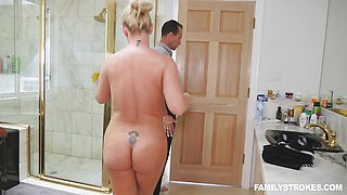 Naughty girl Blair Williams fucking in the shower