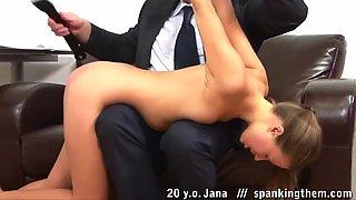 20 yo jana spanked