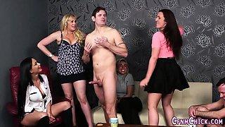 Cfnm babes humiliate guys