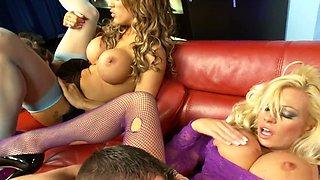 Amazing pornstars Michelle Thorne, Krystal Webb and Sensual Jane in horny big tits, lingerie porn movie