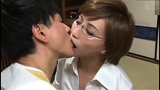 Small breasted japanese maid is stripped licked and fingered