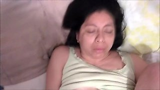 Mexican wife plays and sucks my dick then gets a creampie