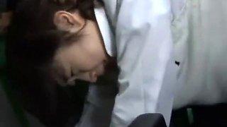 Asian schoolgirl gangbanged in bus