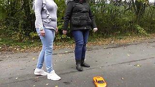 toy car crush, 2 English ladies crushing toys, sexy toy crush, toy crushing
